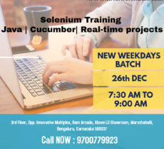 best selenium training in Bangalore