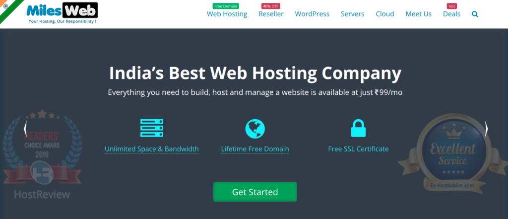 Best Web Hosting provider in India MilesWeb