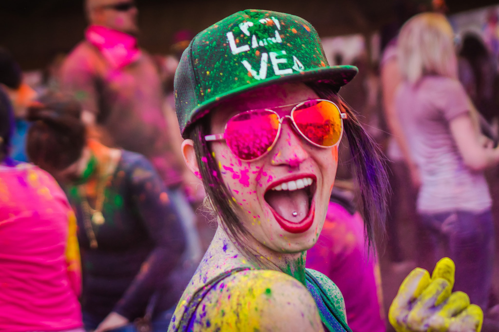 skin and hair care from holi colors